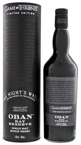 Oban Little Bay Reserve Whisky 'Game of Thrones' The Nights Watch 0,7L 43%