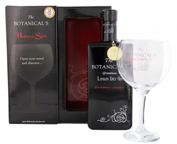The Botanicals London Premium dry Gin inkl Glas