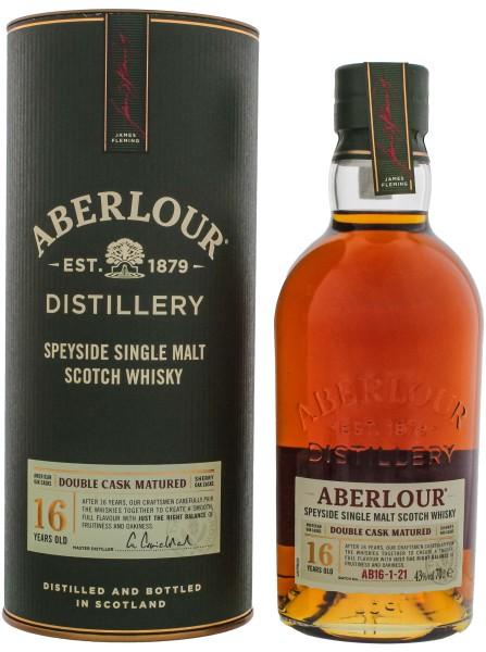 Aberlour Double Cask Single Malt Whisky 16 Jahre, 0,7 L, 43%