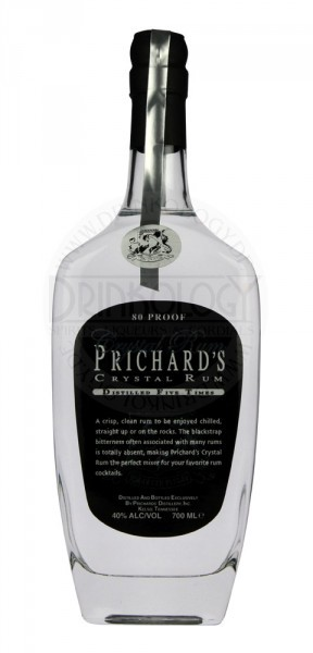 Prichard's Crystal Rum, 0,7 L, 40%