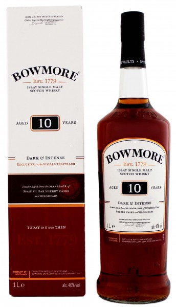 Bowmore 10 Jahre Dark and Intense Malt Whisky 1,0L 40%