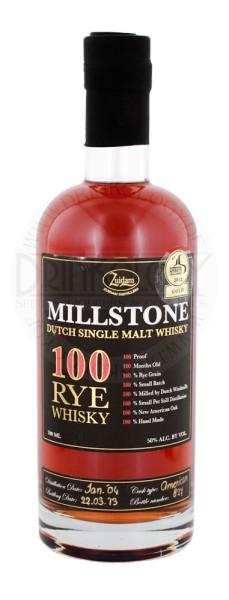 Zuidam Millstone Rye Whisky 100 Proof 0,7L 50%