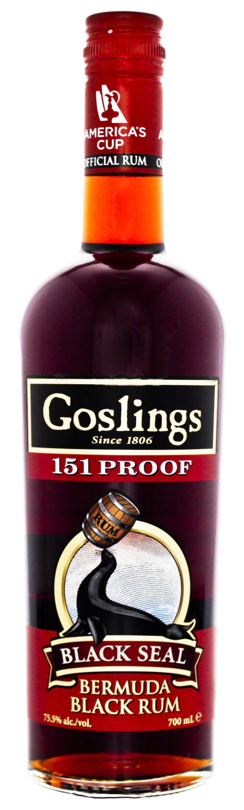 Gosling Black Seal 151 Overproof Bermuda Rum,0,7L, 75,5%
