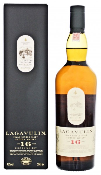 Lagavulin Single Malt Whisky 16 Jahre, 0,2 L, 43%