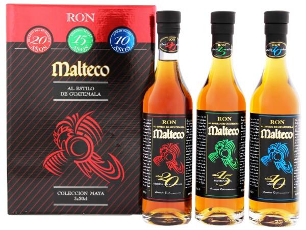 Malteco Rum Pack (Malteco 10/15/20 Jahre), 3x0,2 L, 41%