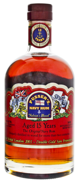 Pusser's British Navy Rum 15 Years Old Nelson's Blood 0,7L 40%