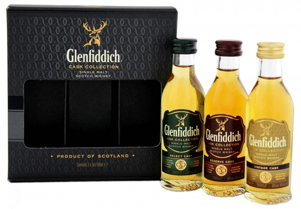 Glenfiddich Cask Collection Miniaturen 3x0,05 L