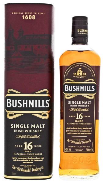 Bushmills Irish Single Malt Whiskey 16 Jahre, 0,7 L, 40%