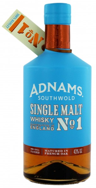 Adnams Single Malt Whisky No. 1 Non Chill Filtered 0,7L 43%