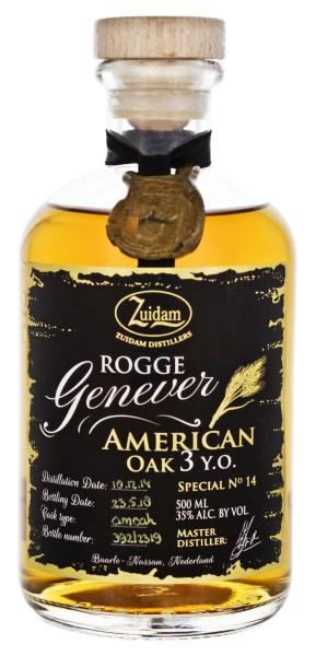 Zuidam Rogge Genever American Oak 3 Jahre Special No. 14 0,5L 35%
