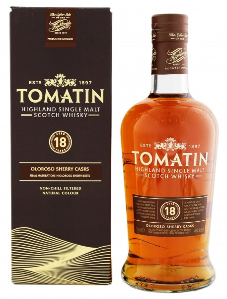 Tomatin Single Malt Whisky 18 Years Old, 0,7 L, 46%