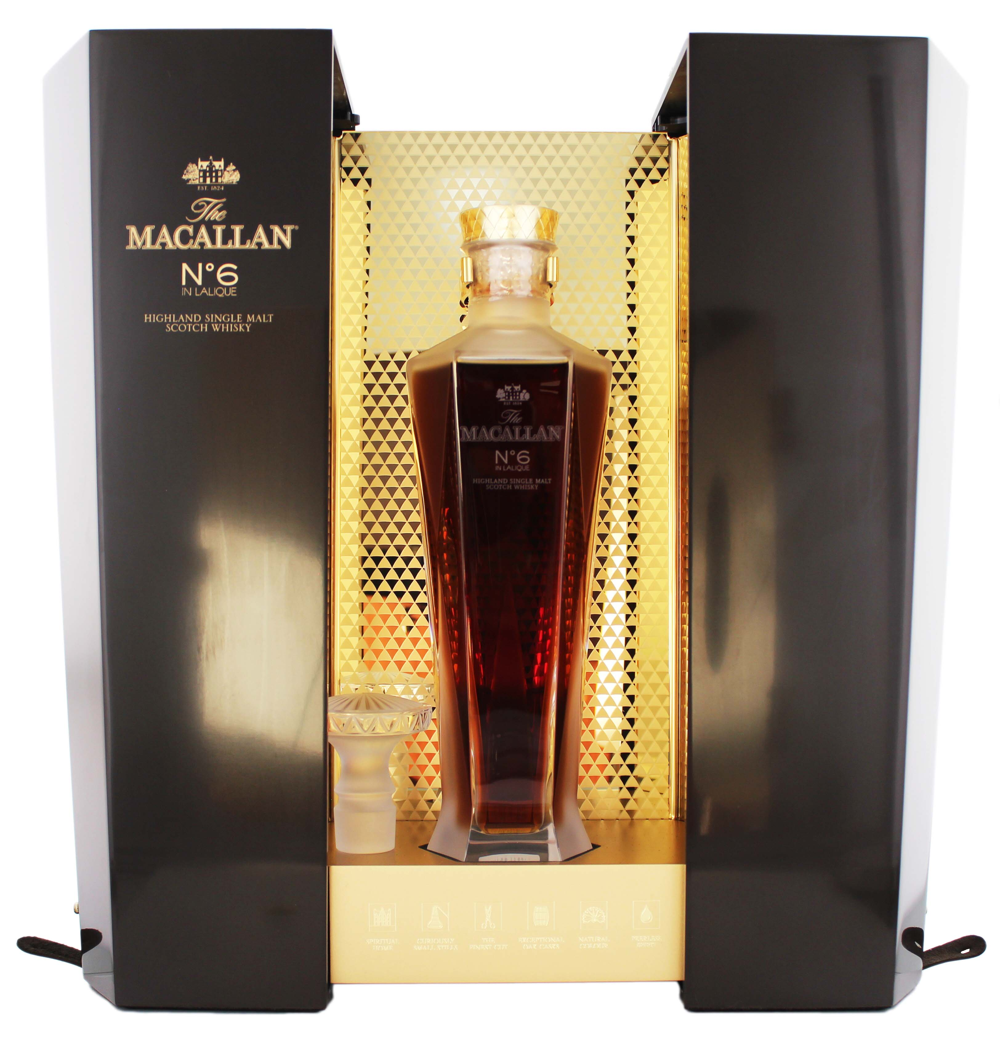 The Macallan Single Malt Whisky No. 6 in Lalique Decanter, 0,7L 43%