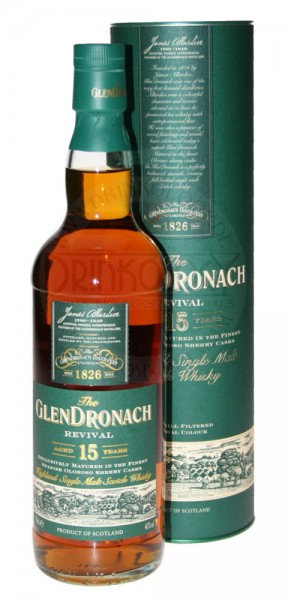 Glendronach Single Malt Whisky Revival 15 Years Old 0,7L 46%