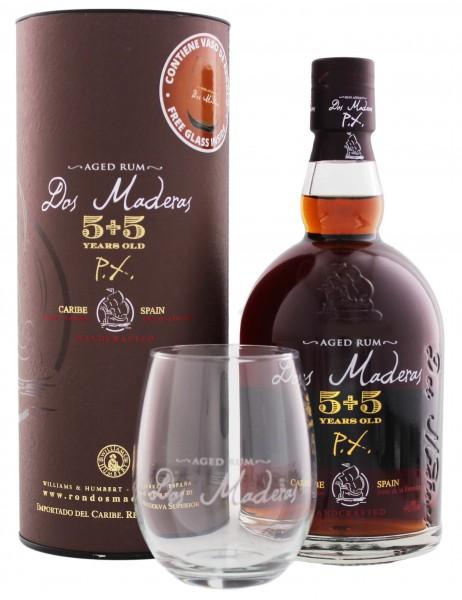Dos Maderas Rum PX 5YO + 5YO 0,7L inkl. Glas