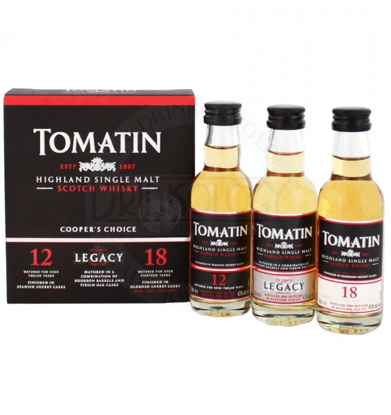 Tomatin Whisky Miniaturen Coopers Choice