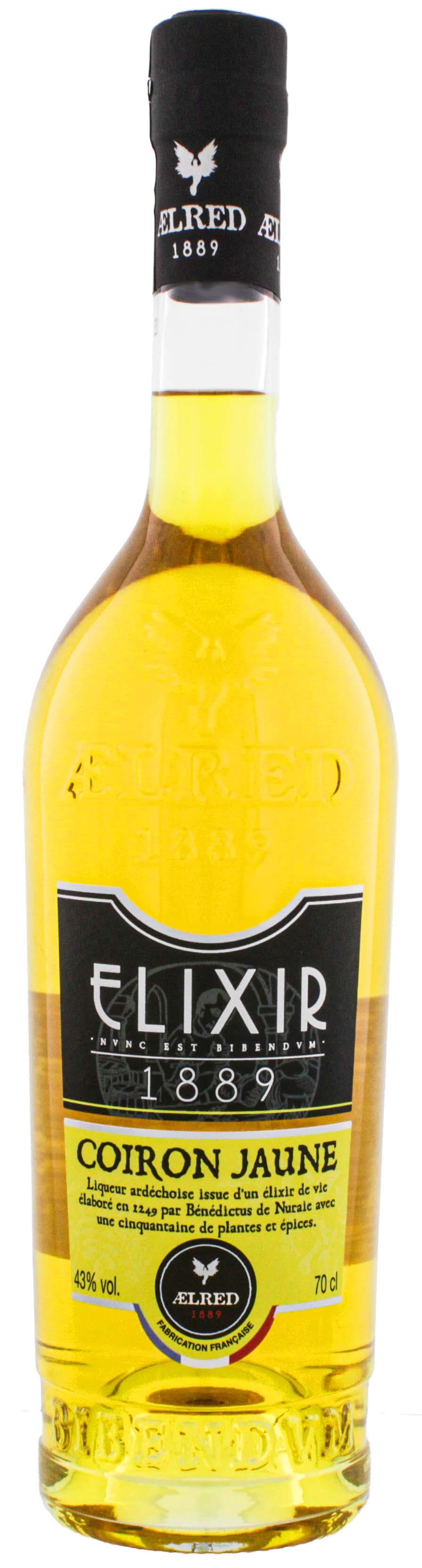 Aelred Liqueur 1889 Elixer  Elixir Coiron Jaune 0,7L 43%