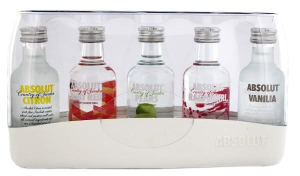 Absolut Vodka Five Pack Miniatur