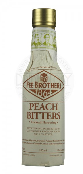 Fee Brothers Peach Bitters 0,15 L 1,7%