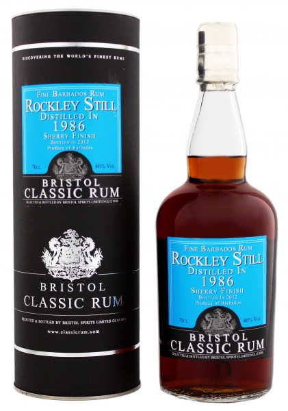 Bristol Rum Rockley Still Barbados 1986 Madeira Finish