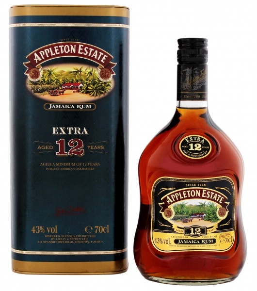 Appleton Estate Rum Extra 12 Years Old, 0,7 L, 43%