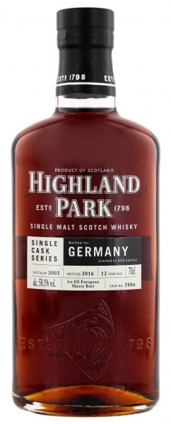 Highland Park Single Cask Series 2003/2016 Sherry Butt