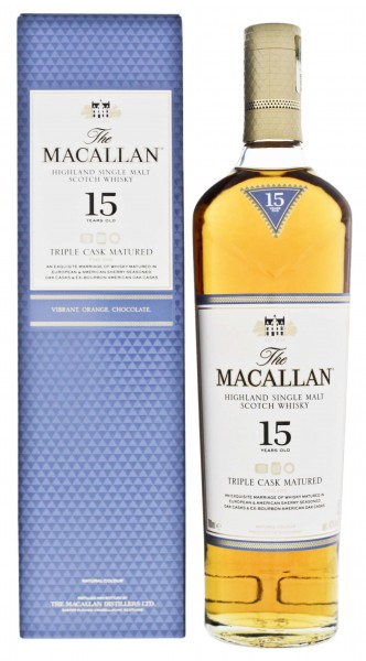 Macallan Single Malt Whisky Triple Cask 15 Jahre 0,7L 43%