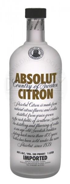 Absolut Vodka Citron, 1 L, 40%