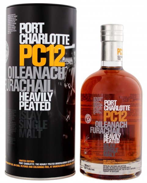 Port Charlotte PC12 Single Malt Whisky 'Oileanach Furachail Islay',
