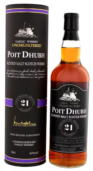 Poit Dhubh Malt Whisky 21 Years Old 0,7L 43%