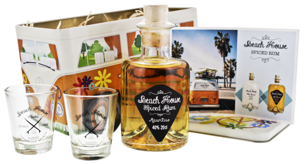 Geschenkset Beach House Spiced 'Beachlife' 0,2L 40%