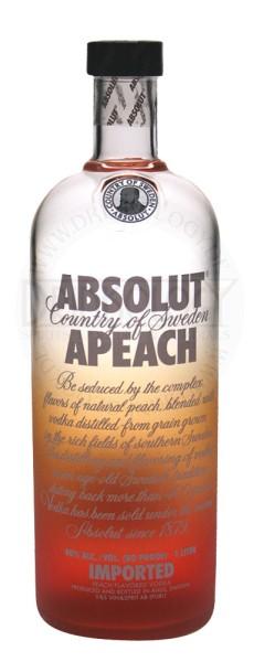 Absolut Vodka Apeach, 1 L, 40%