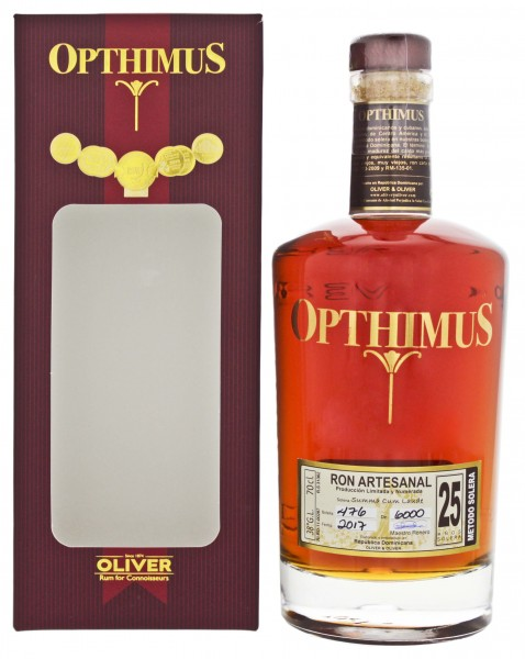 Opthimus Rum 25 Years Old 0,7L 38%