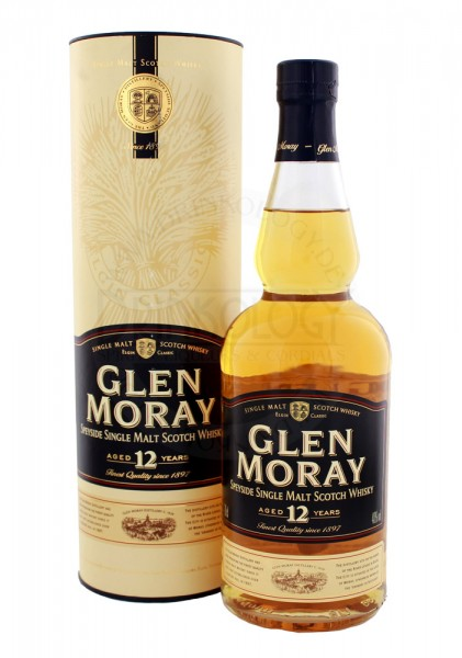 Glen Moray Single Malt Whisky 12 Jahre 0,7L 40%