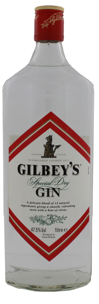 Gilbeys Dry Gin, 1 L, 47,5%