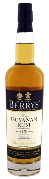 Berry's Own Finest Guyanan Rum 15 Jahre 0,7L 46%