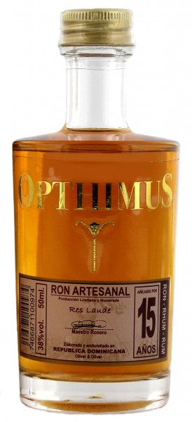 Opthimus Rum 15 Years Old Miniature