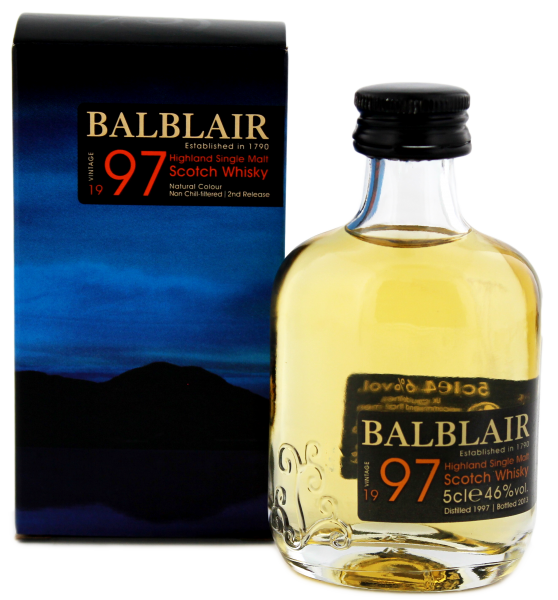 Balblair Single Malt Whisky Vintage 1997 Miniatur 0,05 L 46%