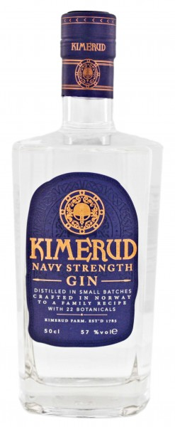 Kimerud Navy Strenght Gin 0,5L 57%