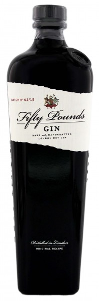 Fifty Pounds London Dry Gin, 0,7 L, 43,5 %