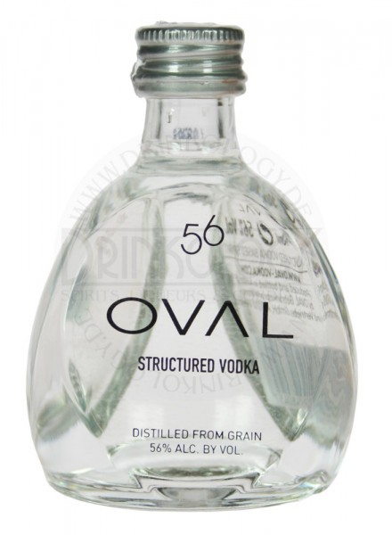 Oval Vodka Structured Miniature 56