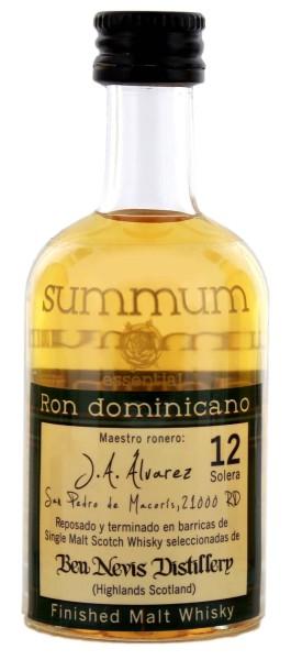 Summum Rum 12 Jahre Malt Whisky Finish Miniatures