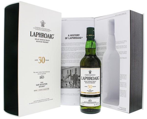 Laphroaig 30YO The Ian Hunter Book 1 Unique Charakter Single Malt Scotch Whisky 0,7L-46,7%-