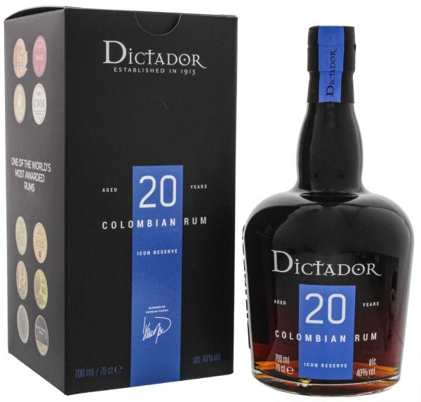 Dictador Rum Solera Distillery Icon Reserve 20 Jahre, 0,7 L, 40%