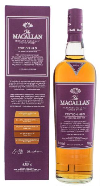 Macallan Single Malt Whisky Edition No. 5 Single Malt Whisky 0,7L 48,5%