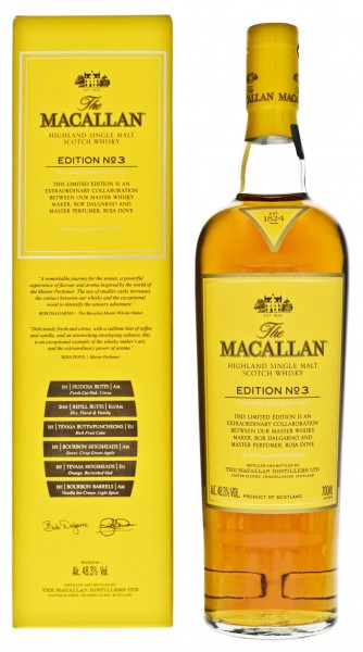 Macallan Highland Single Malt Whisky Edition No. 3  0,7L 48,3%