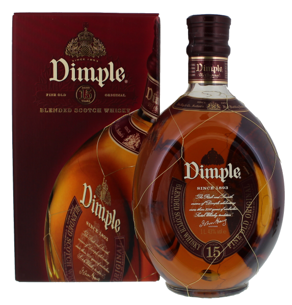 Dimple Blended Scotch Whisky 15 Jahre, 1,0 L, 43%