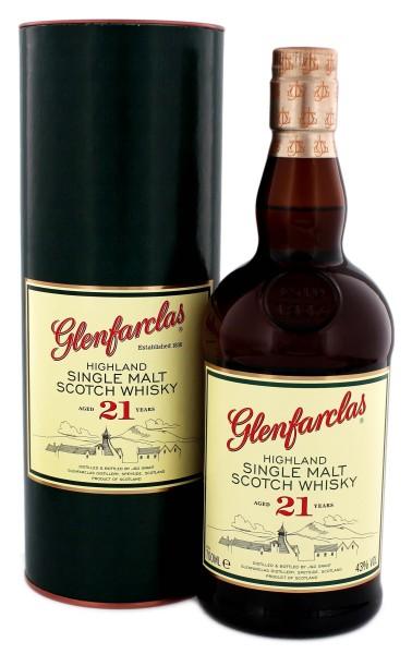 Glenfarclas Single Malt Whisky 21 Years Old, 0,7 L, 43%