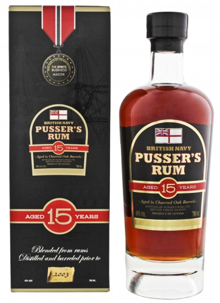 Pusser's British Navy Rum 15 Years Old 0,7L 40%