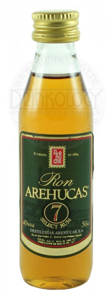 Arehucas Ron Club7 Miniature 7 Years Old 0,05L 40%