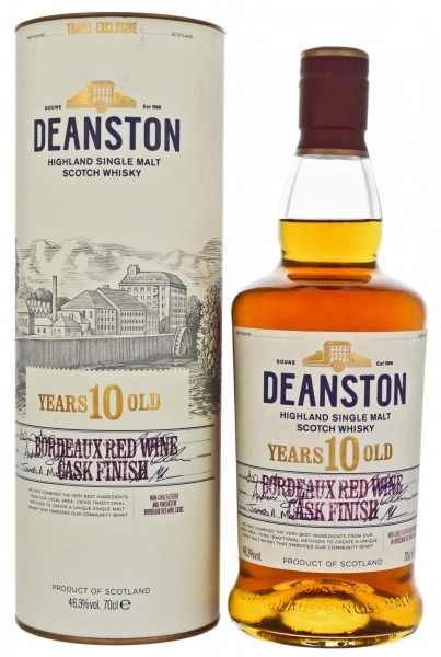 Deanston 10 Jahre Bordeaux Red Wine Cask Finish 0,7L